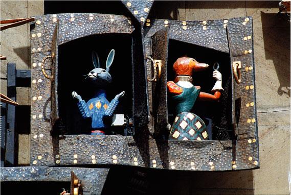 Часы на театре кукольный домик своими руками - 75