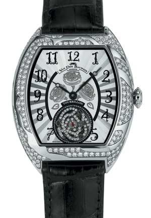 Van der Bauwede Victoria Tourbillon Женские часы в корпусе из белого золота с турбийоном, украшенным бриллиантами.